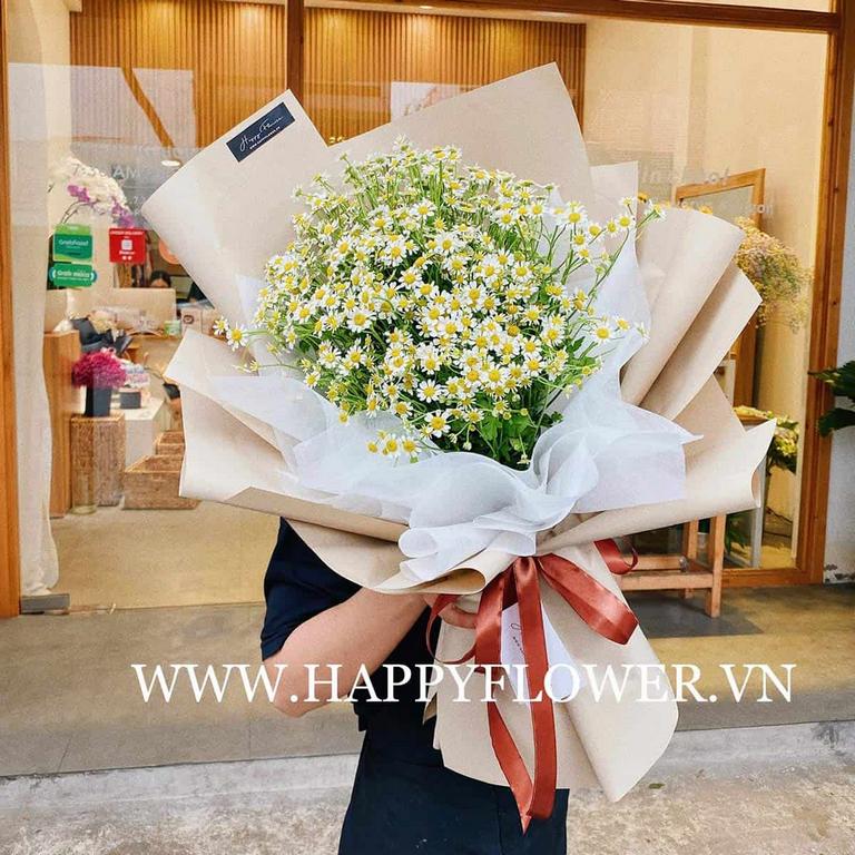Hoa cúc chúc mừng sinh nhật vợ