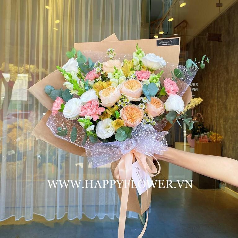 Bó hoa hồng nhều màu sắc