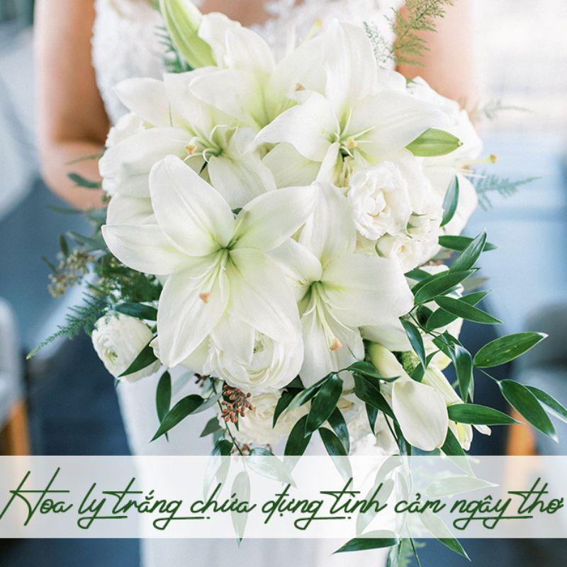 bó hoa ly trắng đẹp tinh khiết
