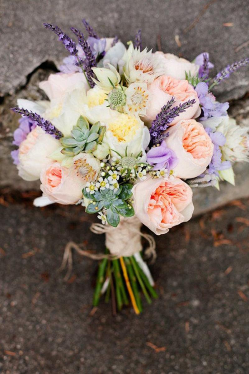 hoa hồng cưới mix vài nhanh lavender