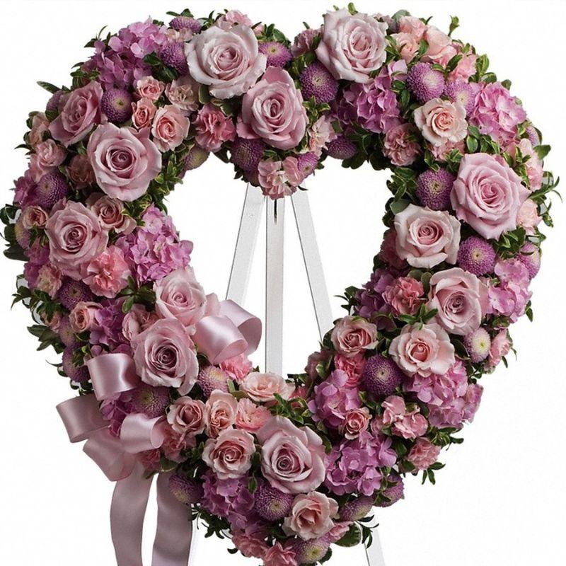 hoa màu tím hình trái tim