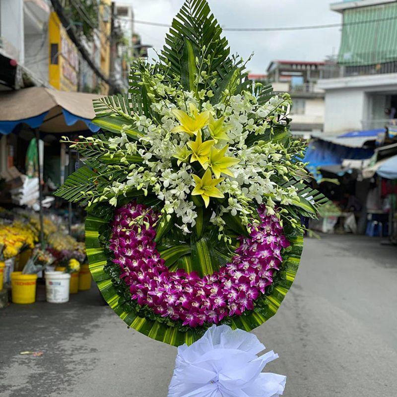 lẵng hoa chia buồn đám tang