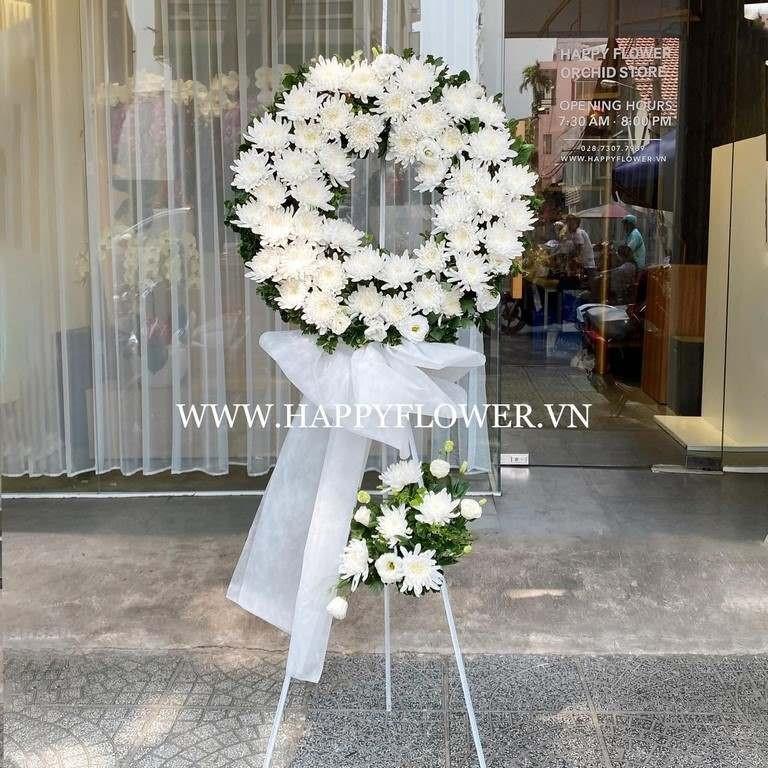 Kệ hoa cúc trắng đám tang
