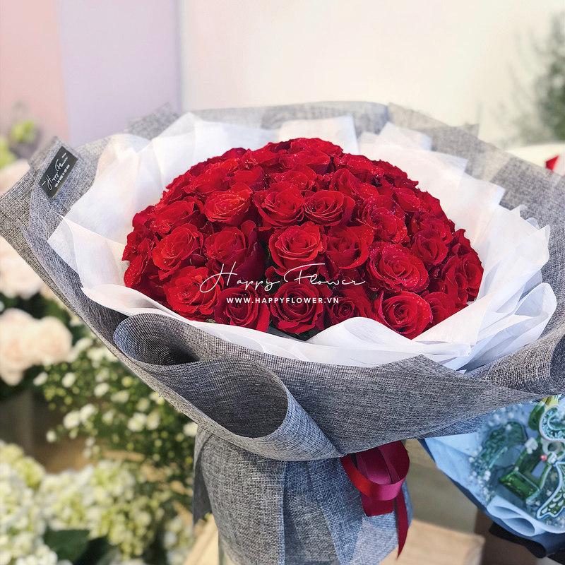 Bó hoa hồng đỏ Basic Red size vừa giá bao nhiêu