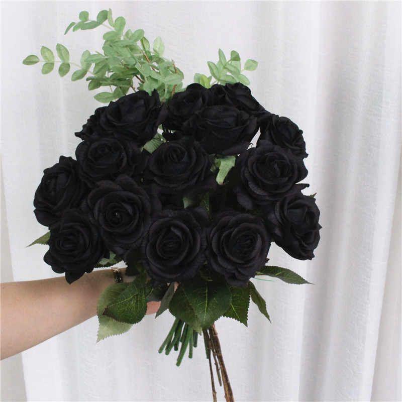 bó hoa hồng đen đơn giản