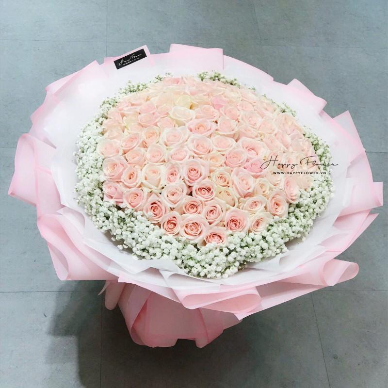 Hoa hồng mau gói quà cực đẹp