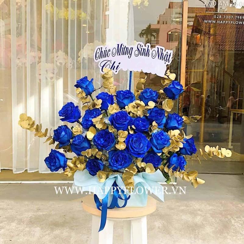 Hoa hồng xanh đẹp rực rỡ