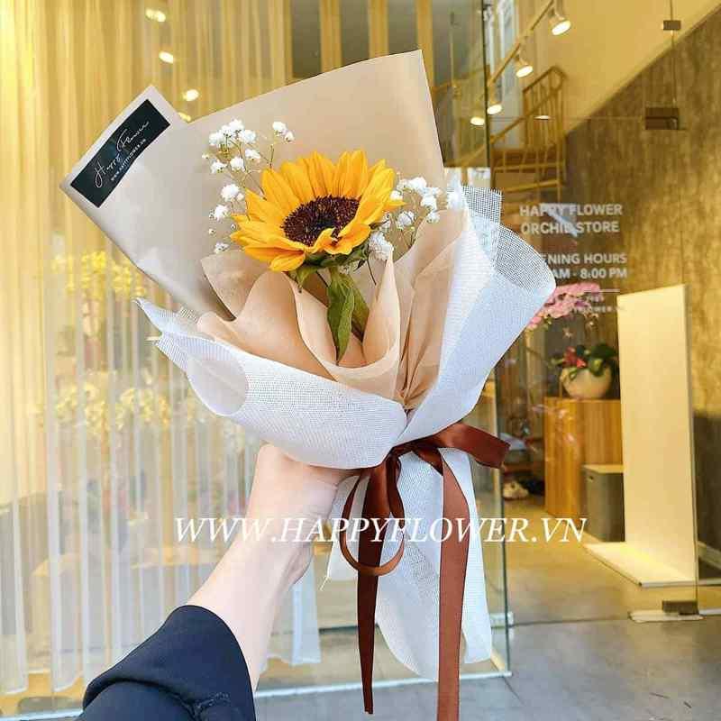 bó hoa hướng dương 1 bông