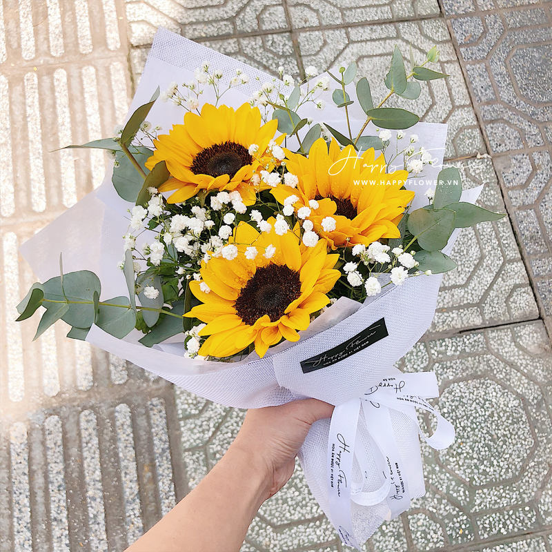 Bó hoa hướng dương 3 bông có giá bao nhiêu