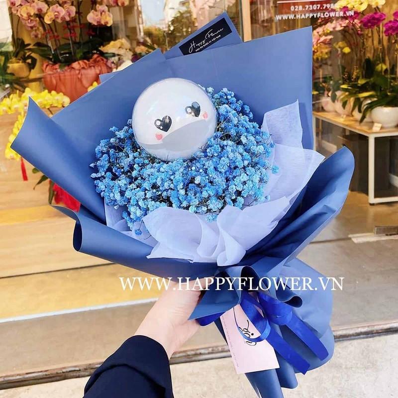 boa hoa baby xanh tặng người yêu