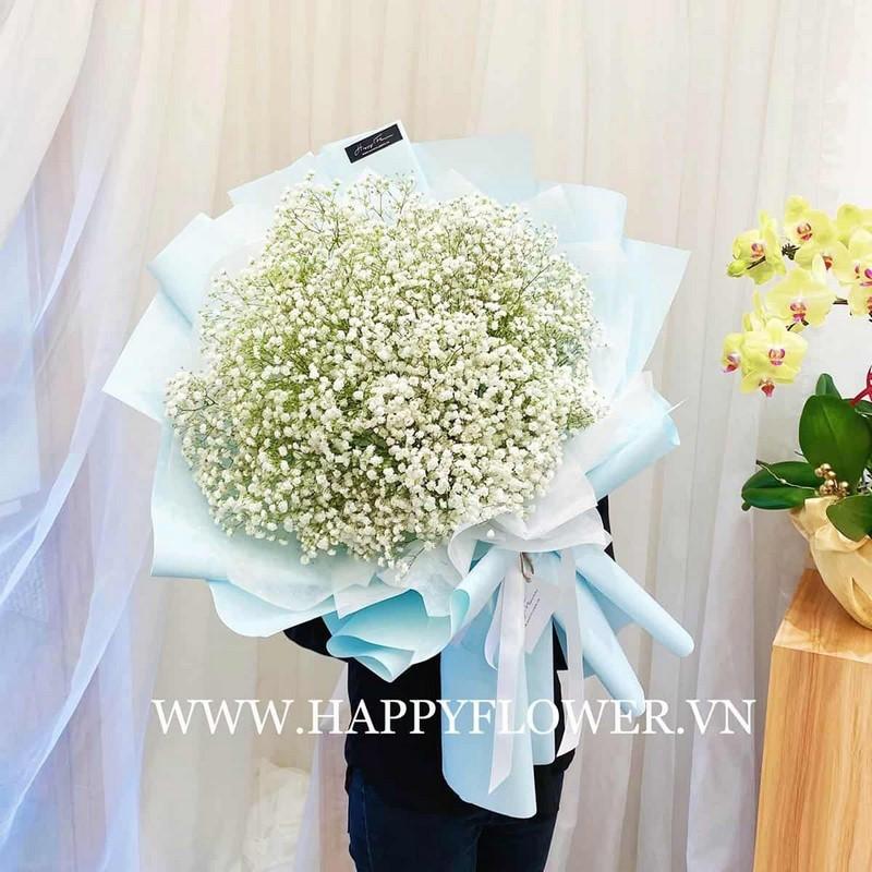 bó hoa baby màu trắng đẹp