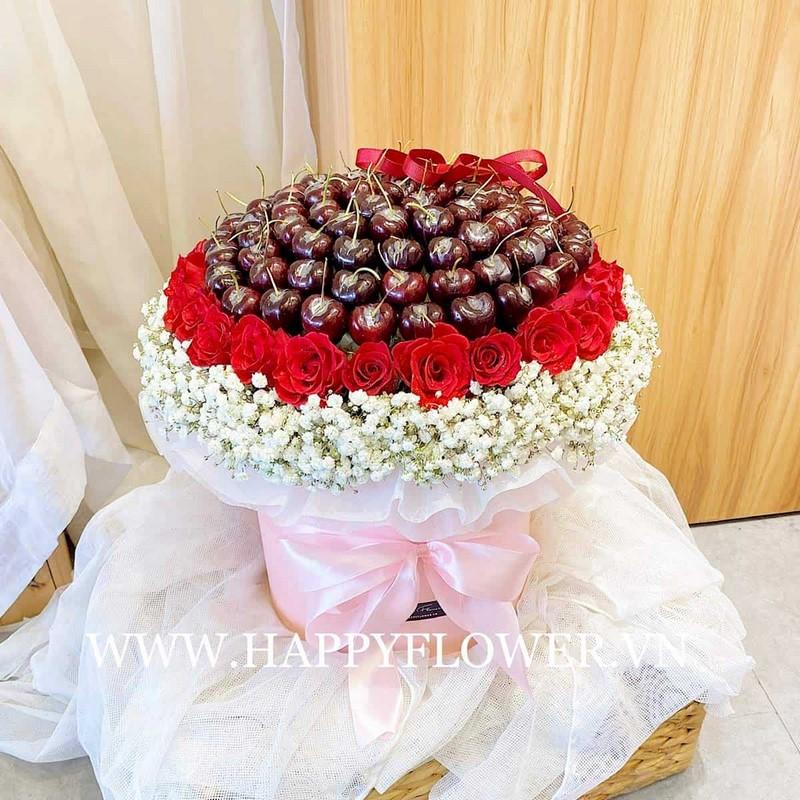 hộp hoa cherry ngọt ngào