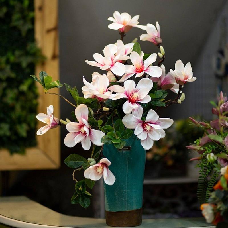 bình hoa sinh nhật mộc lan trắng hồng
