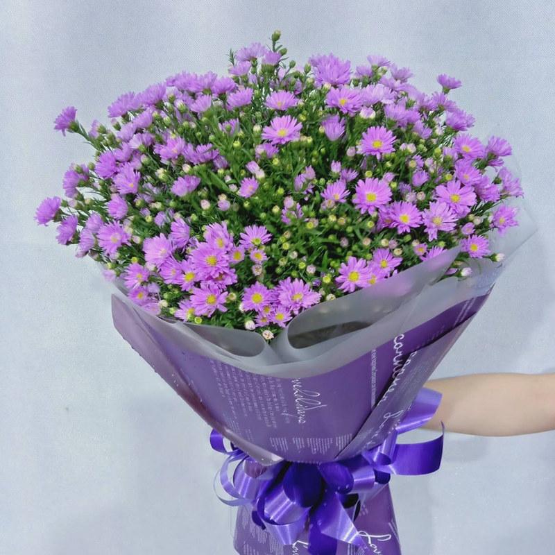 bó hoa sinh nhật thạch thảo tím