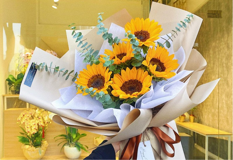 Bó hoa hướng dương tặng sinh nhật bạn trai