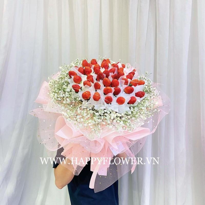 Đóa hoa dâu tây ăn được, sang trọng tặng bạn trai