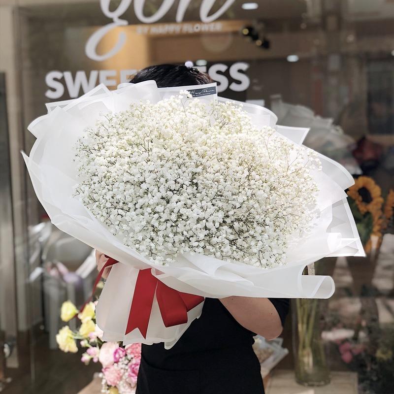 bó hoa hoa sinh nhật cho bé gái baby trắng