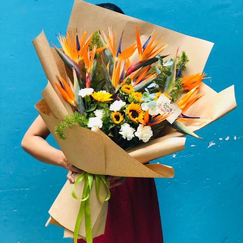 bó hoa thiên điểu tặng sinh nhật nam giới