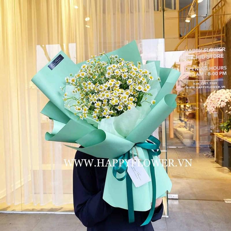 bó hoa cúc tặng sinh nhật nam giới