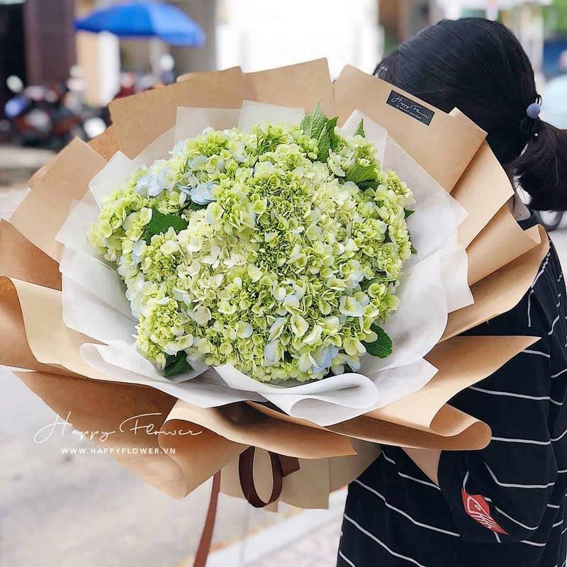 bó hoa màu xanh lá tặng sinh nhật nam giới