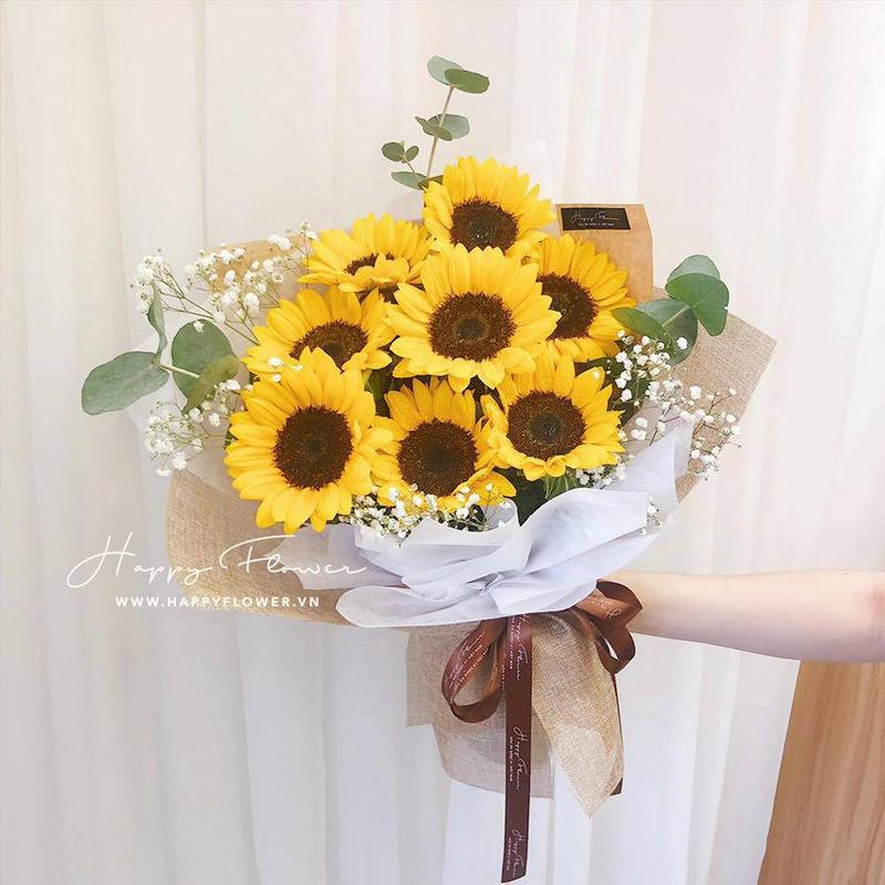 bó hoa hướng dương tặng sinh nhật nam giới