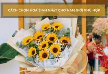 bó hoa hướng dương tặng sinh nhật cho nam