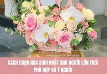 Hoa hồng cực đẹp tặng sinh nhật người lớn tuổi