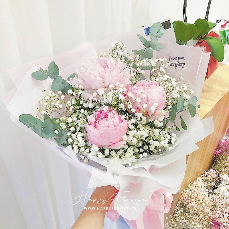 Đóa hoa màu hồng tặng bạn gái