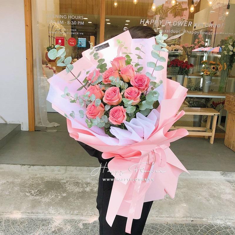 Hoa hồng cam tuyệt đẹp tặng sinh nhật đầy ý nghĩa
