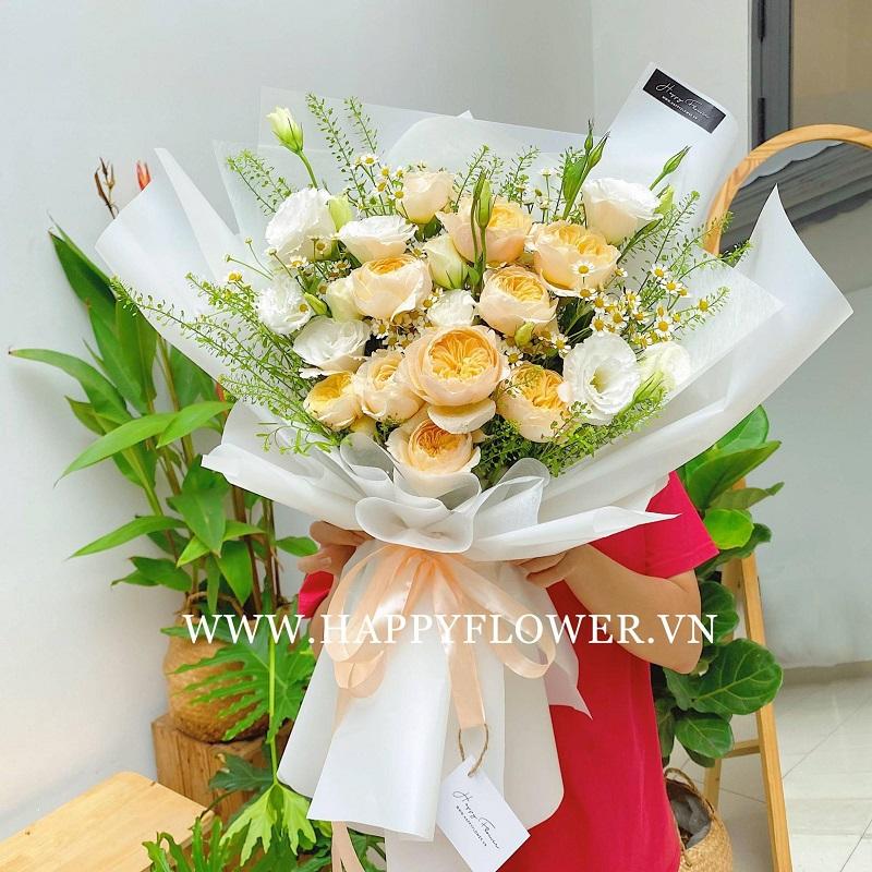 Hoa hồng kết hợp hoa cẩm chướng tuyệt đẹp