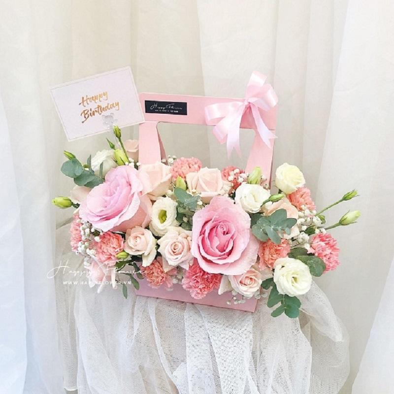 Hộp hoa đủ loại tặng sinh nhật