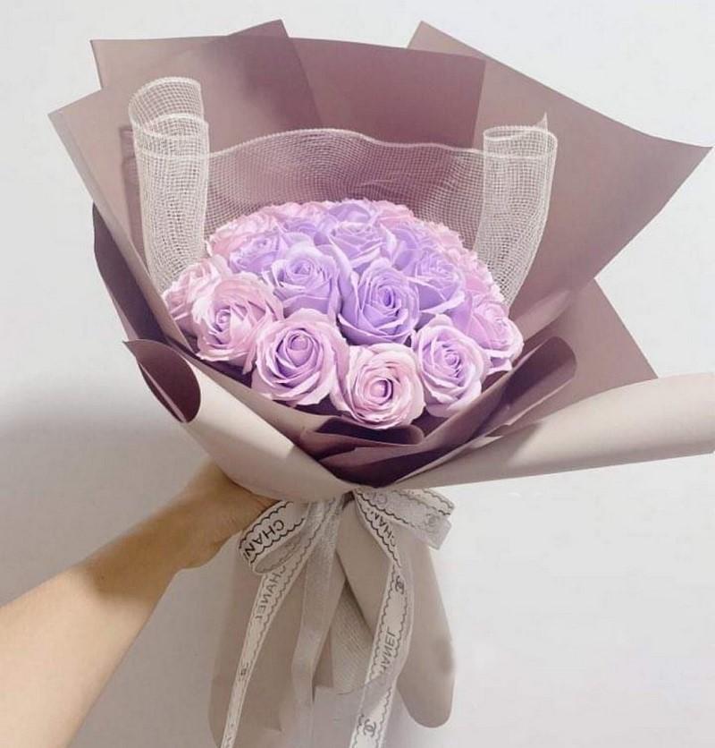 bó hoa hồng tím tặng sinh nhật