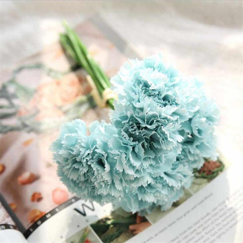 bó hoa cẩm chướng xanh chúc mừng sinh nhật đơn giản