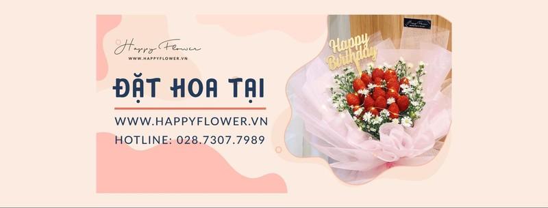 Liện hệ Happy Flower đặt mua hoa sinh nhật màu xanh