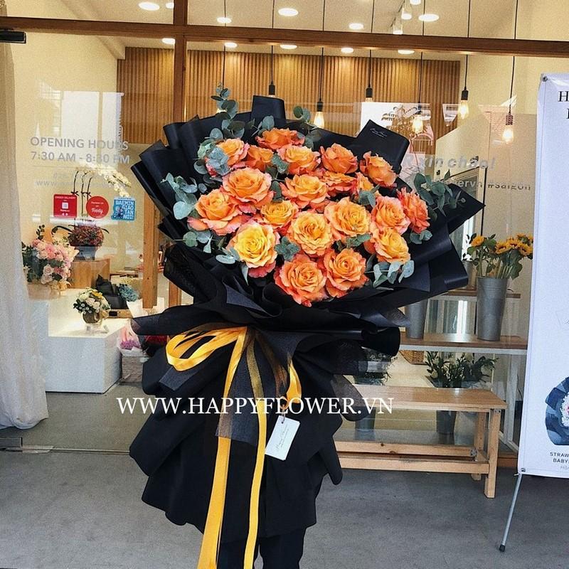 Hoa hồng nhập khẩu màu cam đến từ Châu Âu