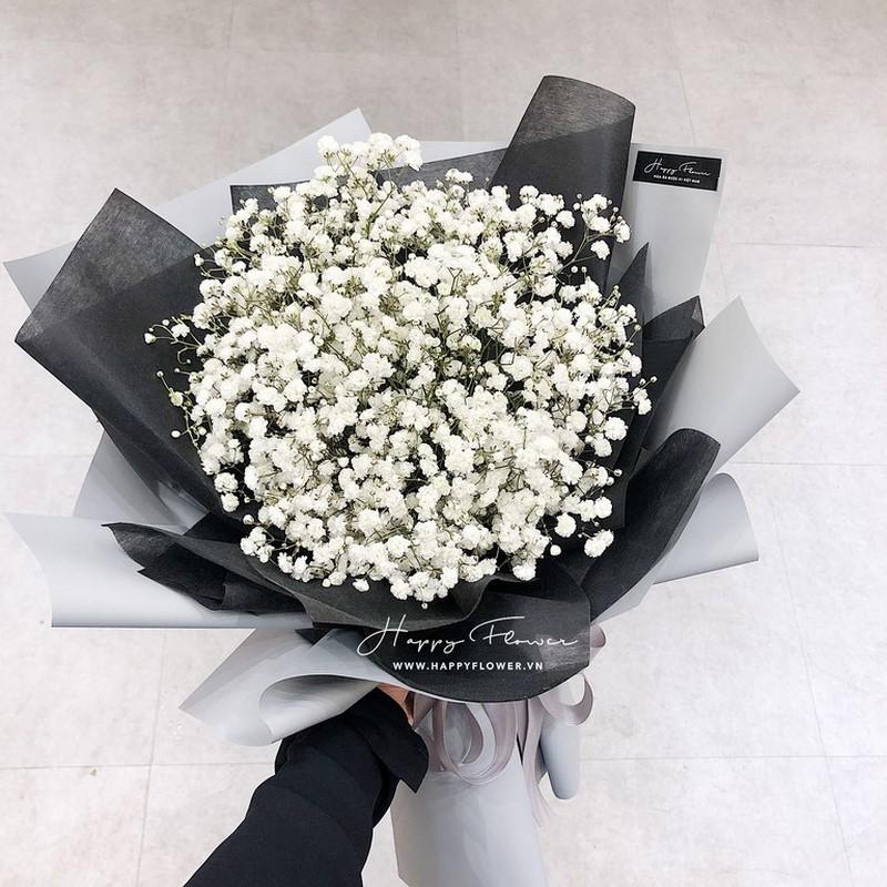 Đóa hoa baby trắng gói quà tuyệt đẹp