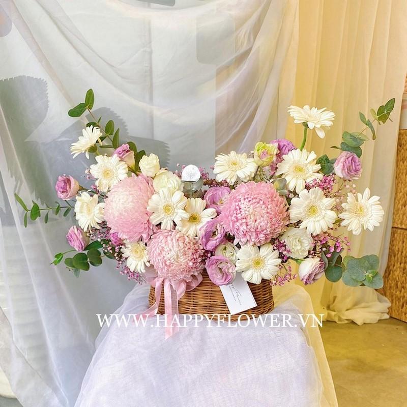 Hoa cúc mẫu đơn màu tím nhạt