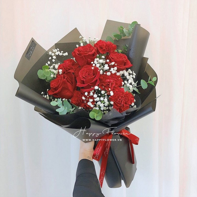 Bó hoa sinh nhật bằng hoa hồng tuyệt đẹp