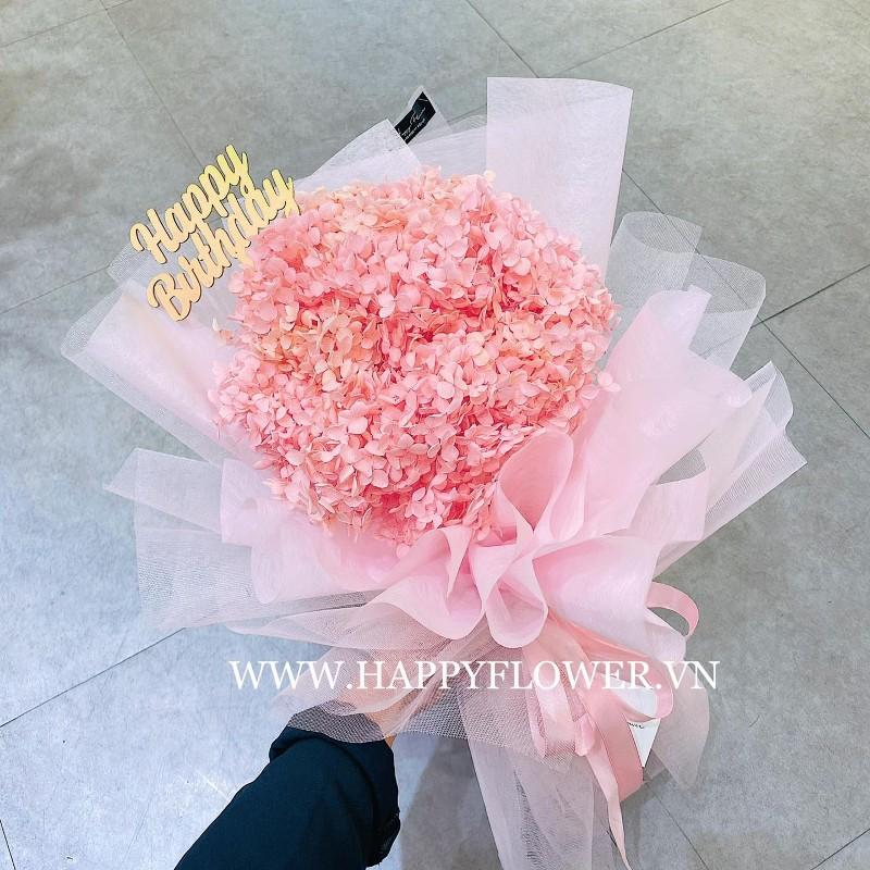 Cẩm tú cầu màu hồng dễ thương
