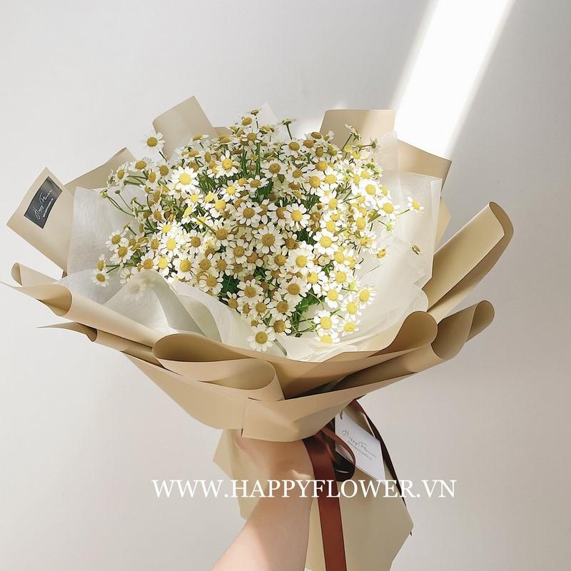 bó hoa cúc tana phong cách vintage