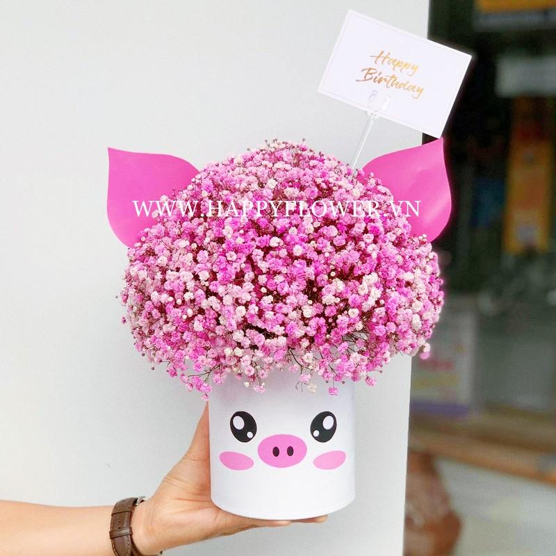 hộp hoa baby hồng đẹp