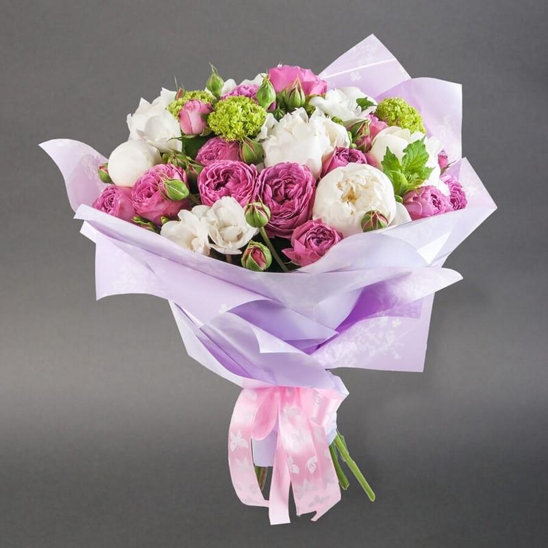 bó hoa sơn trà trắng và tím tặng sinh nhật
