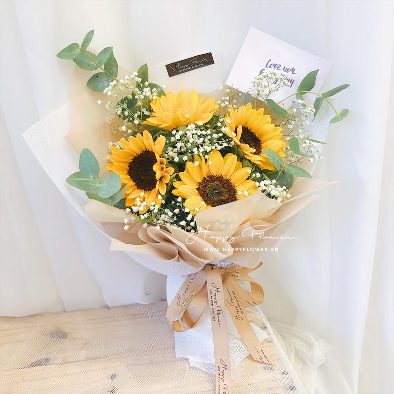 Mẫu hoa hoa tặng người yêu 20/11 hướng dương được yêu thích.