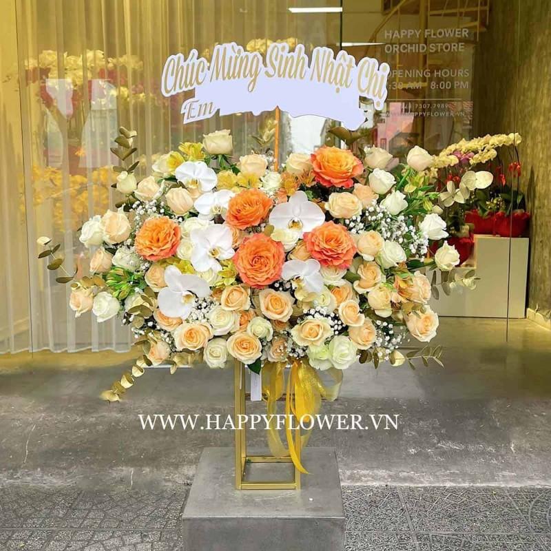 Lãng hoa lan tặng sinh nhật màu cam