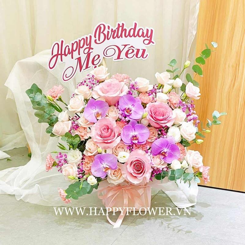 Giỏ hoa tặng sinh nhật mẹ yêu