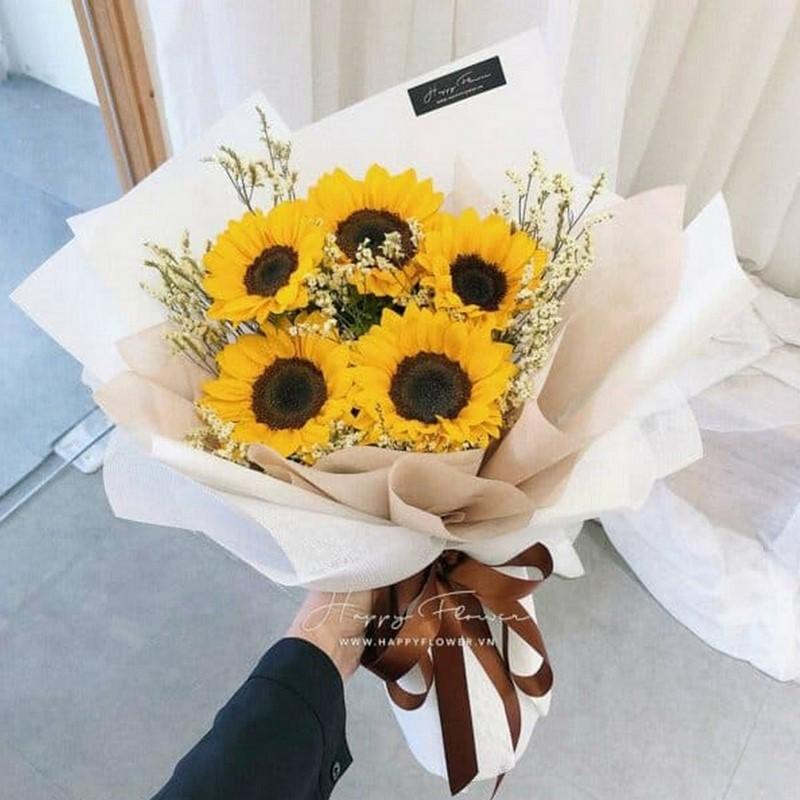 Bó hoa hướng dương tặng cô giáo