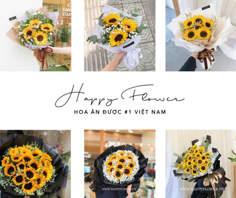 Tổng hợp các mẫu hoa hướng dương chúc mừng khai trương