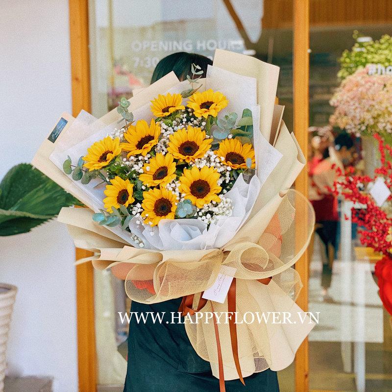 Bó hoa hướng dương vàng tặng hoa sinh nhật